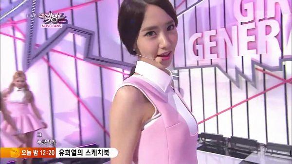 Tags: Girls' Generation, Mr.Mr., Im Yoona, Pink Outfit, Pink Dress, Wallpaper, Music Bank