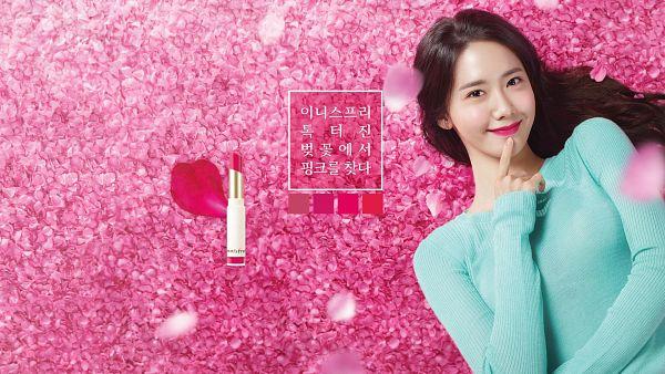 Tags: K-Pop, Girls' Generation, Im Yoona, Make Up, Pink Background, Innisfree, Wallpaper