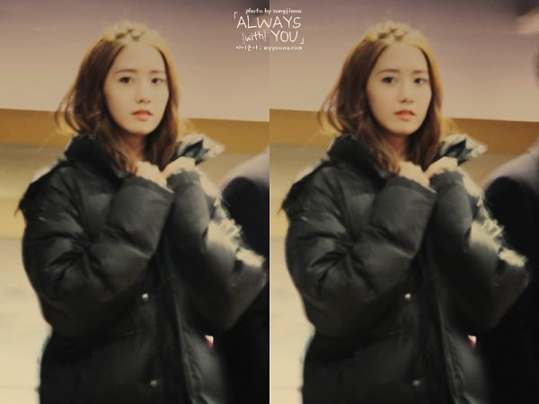 Tags: K-Pop, Girls' Generation, Im Yoona, Black Outerwear, Multiple Persona, Black Jacket, Looking Away, Always With You
