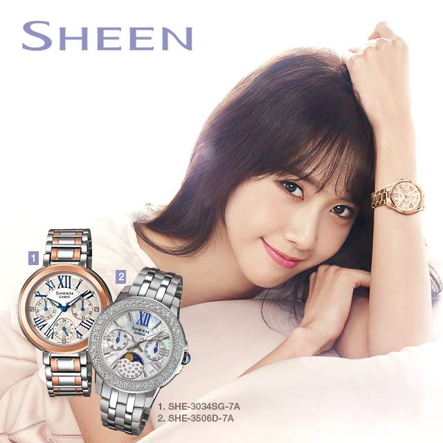 Tags: K-Pop, Girls' Generation, Im Yoona, White Outfit, Light Background, Hand On Head, White Background, White Dress, Watch, Casio