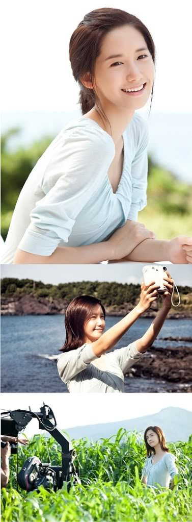 Tags: K-Pop, Girls' Generation, Im Yoona, White Dress, Smartphone, Looking Away, Hand On Arm, White Outfit, Taking Selca, Multiple Persona, Hair Up, Outdoors