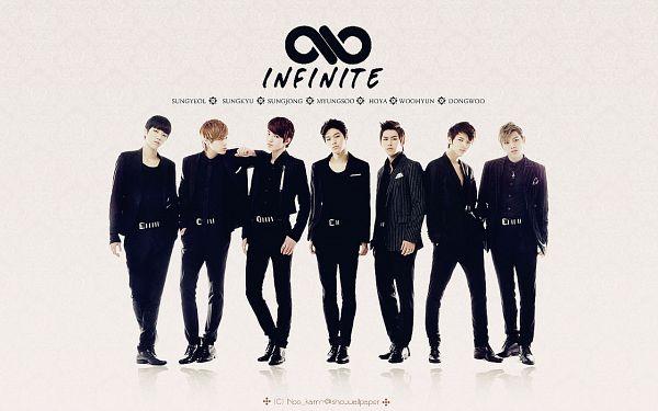 Tags: K-Pop, Infinite, Nam Woo-hyun, Kim Sung-kyu, Jang Dong-woo, Lee Sung-jong, L, Lee Sung-yeol, Hoya, Black Footwear, Group, Black Pants