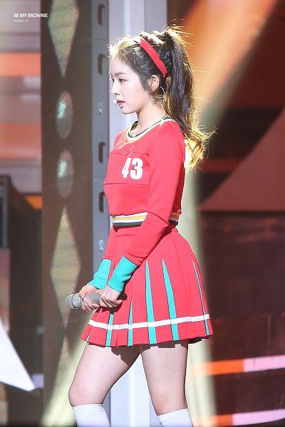 Tags: K-Pop, Red Velvet, Irene, Ponytail, Cheerleader, White Legwear, Red Skirt, Skirt, Red Shirt, Walking, Hair Up, Hairband