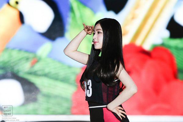 Tags: SM Town, K-Pop, Red Velvet, Irene, Looking Ahead, Sleeveless, Bare Shoulders, Hand On Hip, Dancing, Cheerleader, Wallpaper, Live Performance