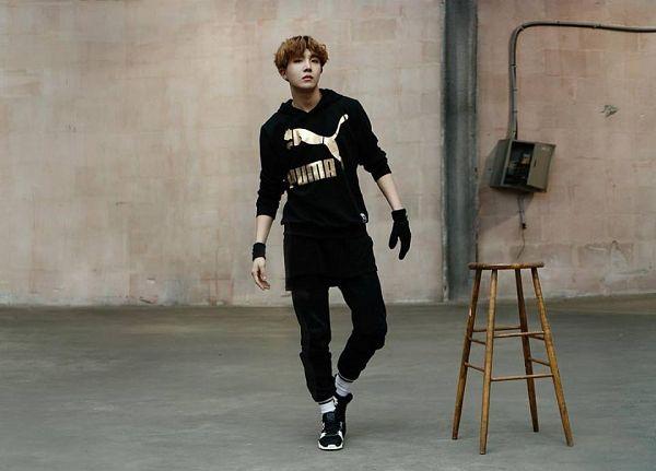 Tags: K-Pop, BTS, J-Hope, Shoes, Wristband, Gloves, Serious, Chair, Black Footwear, Black Pants, Stool, Black Gloves