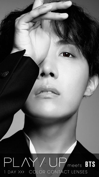 Tags: K-Pop, BTS, J-Hope, Contact Lenses, Covering Eyes, Monochrome, Serious, Play Up