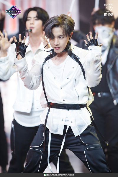 Tags: Television Show, K-Pop, BTS, ON, J-Hope, Jin, Black Gloves, English Text, Looking Ahead, Fingerless Gloves, Trio, Three Males