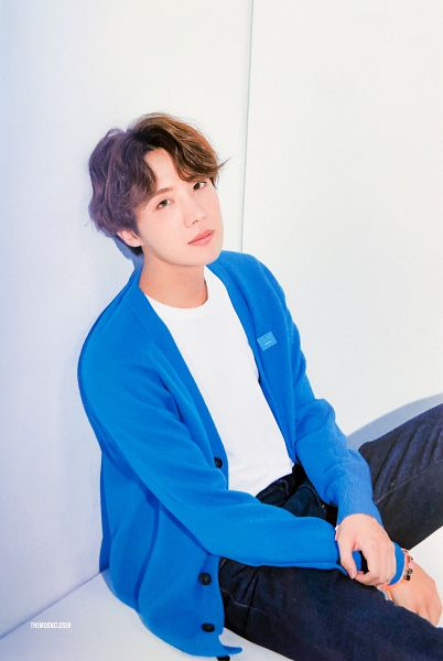 Tags: K-Pop, BTS, J-Hope, Bracelet, Blue Outerwear, Sitting On Ground, Light Background, Leaning On Wall, Cardigan, Jeans, Wall, BTS 2020 Season's Greetings