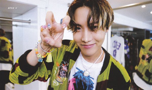 Tags: K-Pop, BTS, Chicken Noodle Soup, J-Hope, Bracelet, Dimples, Ring, Indoors, Nail Polish, Mirror, Green Outerwear, Make Up