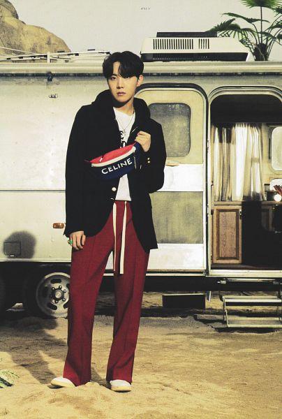 Tags: K-Pop, BTS, J-Hope, Hood, Red Pants, Hoodie, Car, Scan, BTS The Best