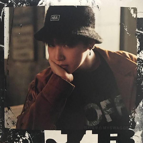 Tags: K-Pop, Got7, My Swagger, JB, Black Shirt, Hand On Head, Hand On Cheek, Arm Support, Hat, Brown Outerwear, Serious, Scan