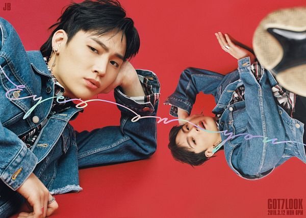 Tags: K-Pop, Got7, JB, Two Males, Multiple Persona, Denim Jacket, Duo, Ring, Eyes On You