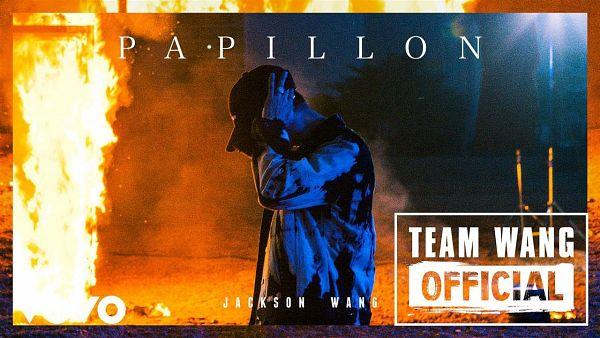 Tags: K-Pop, Got7, Papillon, Jackson, Side View, Hat, Text: Artist Name, Text: Song Title, Ring, Wallpaper, Screenshot