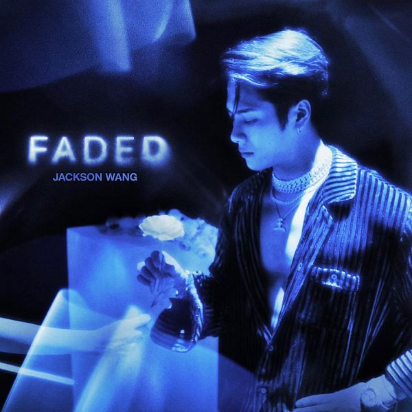 Tags: K-Pop, Got7, Faded, Jackson, Rose (flower), Flower, Text: Artist Name, English Text, Text: Song Title, Necklace