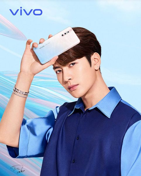 Tags: K-Pop, Got7, Jackson, Phone, Blue Shirt, Serious, Smartphone, Bracelet, Vivo