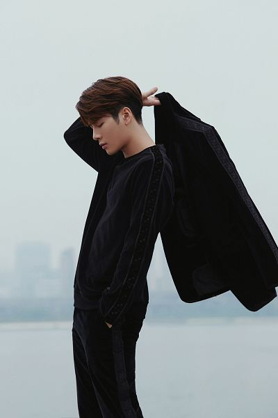 Tags: K-Pop, Got7, Jackson, Serious, Black Jacket, Hand In Pocket, Eyes Closed, Black Pants, Fendi