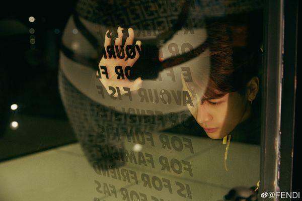 Tags: K-Pop, Got7, Jackson, Looking Down, Serious, Fendi