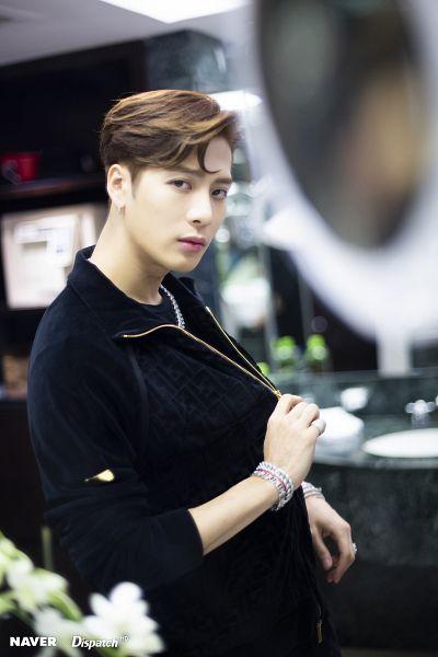 Tags: K-Pop, Got7, Jackson, Jumpsuit, Ring, Serious, Necklace, Bracelet, Bathroom, Dispatch
