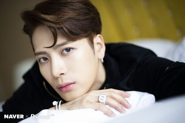 Tags: K-Pop, Got7, Jackson, Ring, Laying Down, Necklace, Jumpsuit, Bracelet, Laying On Stomach, Serious, Dispatch