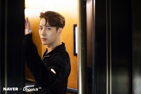 Tags: K-Pop, Got7, Jackson, Necklace, Serious, Elevator, Jumpsuit, Dispatch
