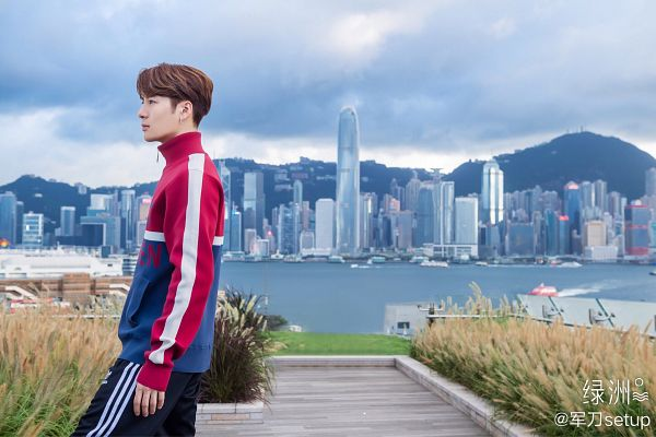 Tags: K-Pop, Got7, Jackson, City, Outdoors, Jumpsuit, Side View, Water, Sea