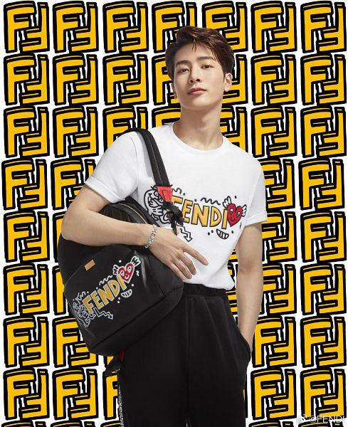 Tags: K-Pop, Got7, Jackson, Black Pants, Hand In Pocket, Bag, Backpack, Short Sleeves, Fendi