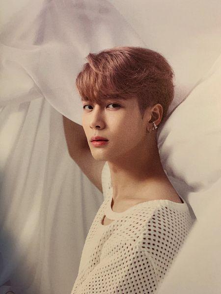 Tags: K-Pop, Got7, Jackson, Short Sleeves, Blanket, Serious, Pink Hair, Breath Of Love: Last Piece