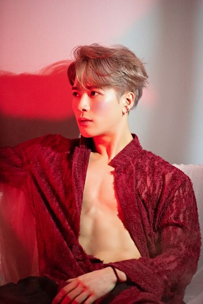Tags: K-Pop, Got7, Jackson, Red Shirt, Open Shirt, Make Up, Abs, Blush (Make Up), Breath Of Love: Last Piece