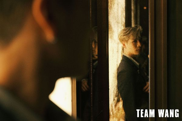 Tags: K-Pop, Got7, Jackson, Looking At Reflection, Serious, Gray Jacket, Mirror, Glass, Reflection, Suit, Gray Outerwear