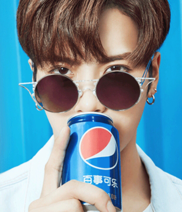 Tags: K-Pop, Got7, Jackson, Glasses, Jewelry, Short Hair, Earrings, Close Up, Pepsi