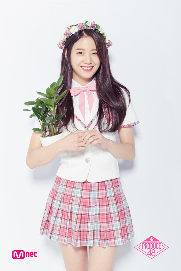 Tags: K-Pop, Television Show, fromis 9, Jang Gyuri, Crown, Flower, Plant, Flower Crown, Hair Ornament, Mnet, Produce 48