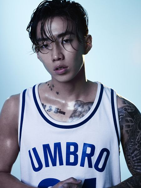 Tags: AOMG, K-Pop, Jay Park, Tattoo, Sleeveless, Sleeveless Shirt, Close Up, Bare Shoulders, Light Background, White Background, Umbro, Android/iPhone Wallpaper