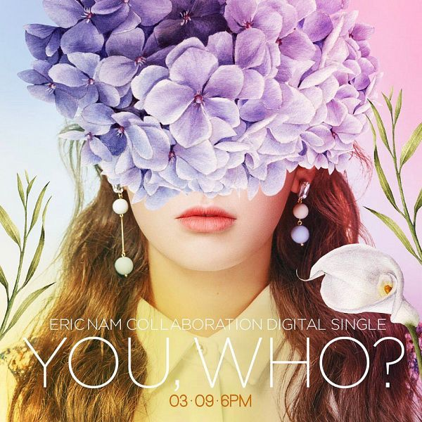 Tags: JYP Entertainment, K-Pop, I.O.I, Jeon Somi, Wavy Hair, Face Cut Off, Flower, Text: Calendar Date, Close Up, Covering Eyes, English Text, Text: Artist Name