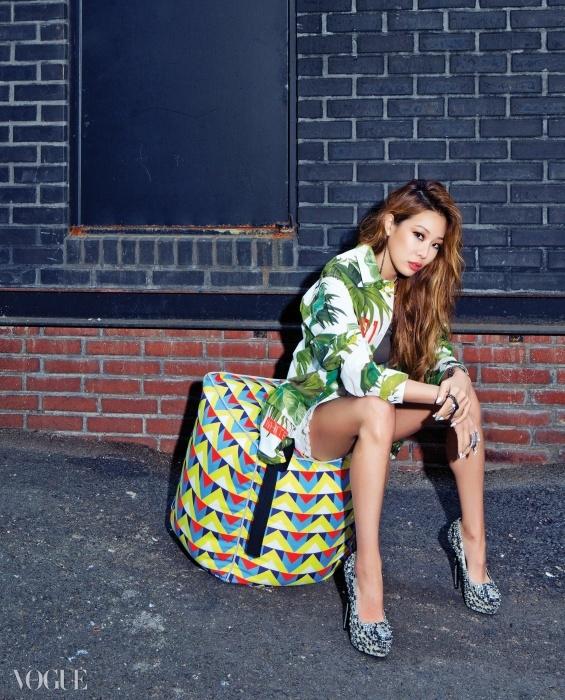 Tags: Lucky J, Jessi, High Heels, Text: Magazine Name, Bent Knees, Full Body, Sitting, VOGUE Korea