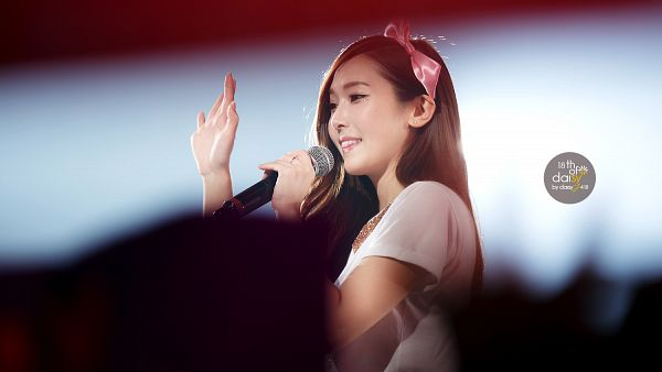 Tags: K-Pop, Girls' Generation, Jessica Jung, Wave, Necklace, Hair Ornament, Bow, Side View, Pink Bow, Hair Bow, Daisyj418, Wallpaper