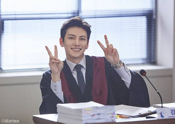 Tags: Glorious Entertainment, K-Drama, Ji Chang-wook, V Gesture, Text: Company Name