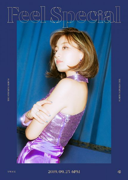 Tags: K-Pop, Twice, Jihyo, Text: Artist Name, Text: Album Name, Text: Calendar Date, English Text, Twitter, Feel Special