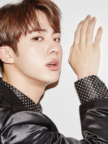 Tags: K-Pop, BTS, Jin, Black Jacket, Spotted, Black Eyes, Spotted Shirt, Magazine Scan, GQ Korea