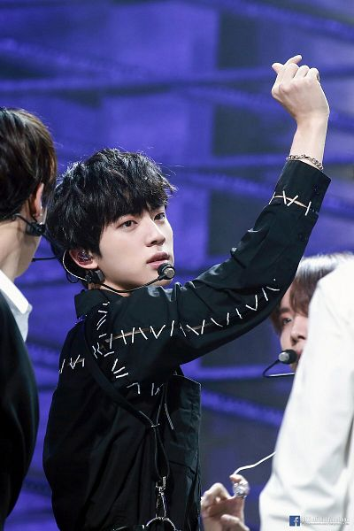 Tags: K-Pop, Bangtan Boys, Fake Love, Jin, English Text, Three Males, Trio, Text: URL, Text: Artist Name, Love Yourself: Tear, Facebook, Live Performance