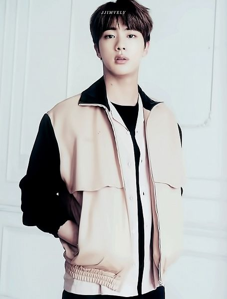 Tags: K-Pop, BTS, Jin, Mole, Brown Outerwear, Hand In Pocket, Facial Mark, Black Eyes, Serious, Black Shirt, Anan Magazine, Magazine Scan