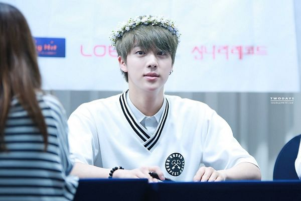 Tags: K-Pop, BTS, Jin, Flower, Hair Ornament, Pen, Crown, Bracelet, Flower Crown, Wallpaper