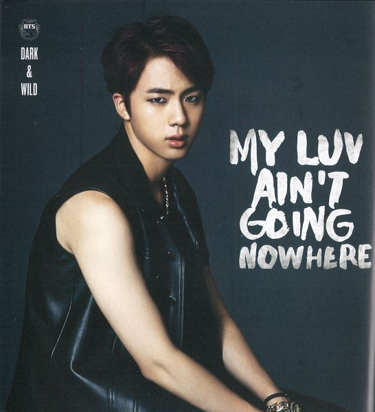 Tags: K-Pop, BTS, Jin, Bracelet, Tank Top, Gray Background, English Text, Text: Album Name, Make Up, Sleeveless, Bare Shoulders, Necklace
