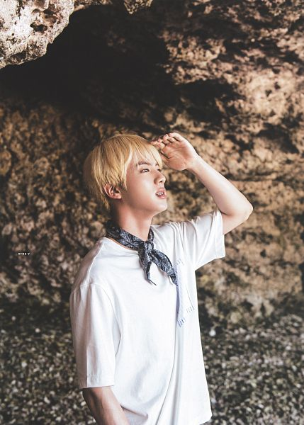 Tags: K-Pop, BTS, Jin, Short Sleeves, One Arm Up, BTS 2018 Summer Package, Scan