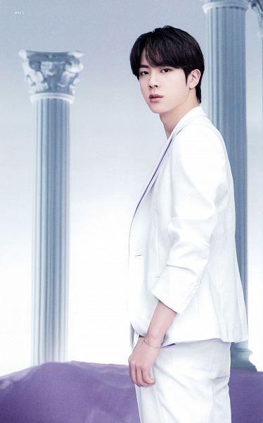 Tags: K-Pop, BTS, Jin, Bracelet, White Outerwear, White Pants, Serious, Suit, Column, White Jacket, Scan, BTS The Best
