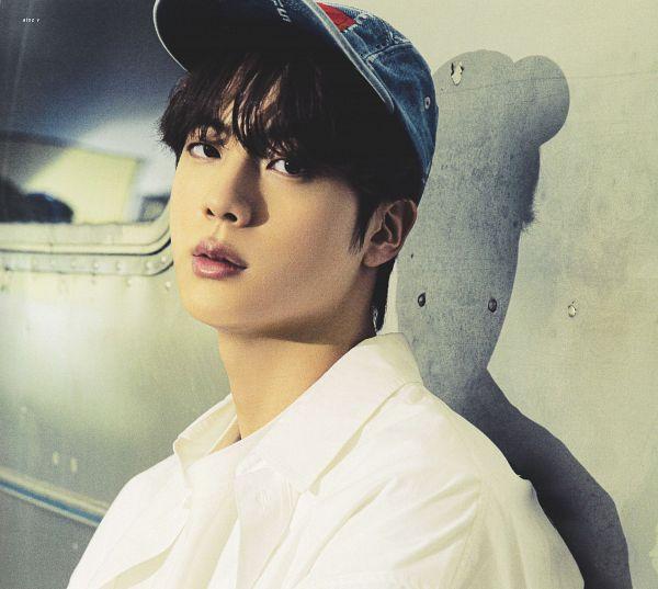 Tags: K-Pop, BTS, Jin, Car, Serious, Hat, Shadow, BTS The Best, Scan