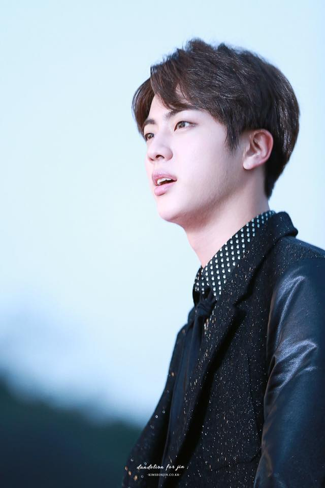Tags: K-Pop, BTS, Jin, Spotted, Spotted Shirt, Black Shirt, Black Outerwear, Black Neckwear, Black Jacket, Tie