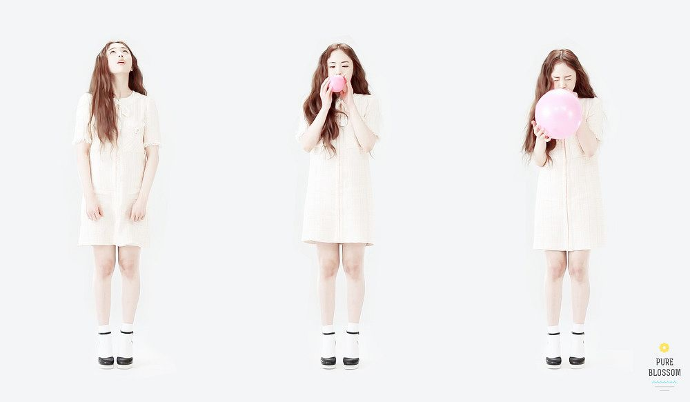 Tags: K-Pop, Oh My Girl, JinE, Light Background, White Background, Trio, Three Girls