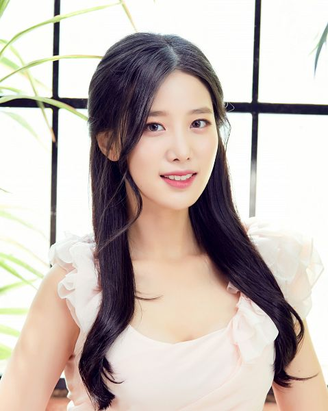Tags: K-Pop, Berry Good, Johyun, White Dress, Window, Contact Lenses, White Outfit, Plant, Fantastic