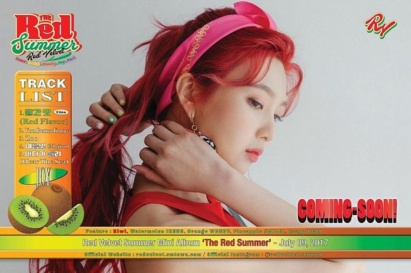 Tags: K-Pop, Red Velvet, Joy, Hair Up, The Red Summer, Ponytail, Red Hair