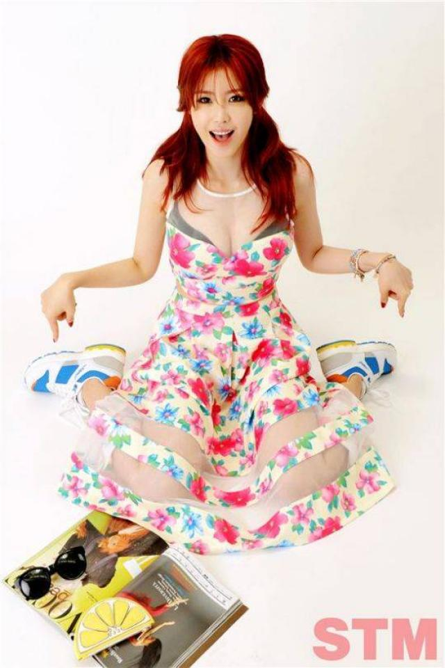 Tags: K-Pop, Secret, Jun Hyoseong, Big Breasts, Ring, Red Hair